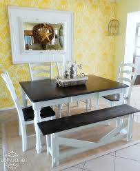 amazing yellow dining room paint idea with black white table excerpt chairs