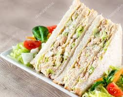 Sliced White Bread Chicken With Light Mayonnaise Sailing Lima