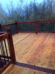Two tone stain on our Deck turned out nice
