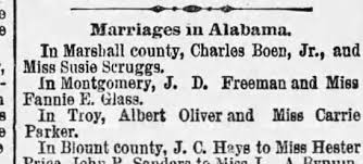 Ivan Freeman married Fannie E Glass - they misspelled Ivan's first name. -  Newspapers.com