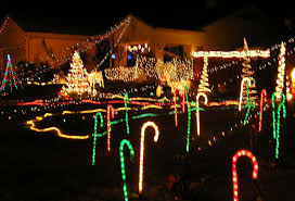 Outdoor Christmas Decorations Candy Canes Fancy Plush Design Candy Cane Outdoor Christmas Lights Led Rope 47