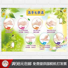 Flow Chart Cartoon Childrens Seven Step Hand Washing Method Diagram Childrens