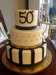 Mens Birthday Cake Ideas Gold And Black 50th Birthday Cake Mens