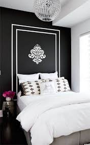 red wall paint black bed:  fancy red wall painted color feat white black pattern added low pro bed