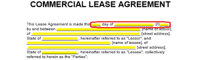 Blank Rental Lease Free Commercial Rental Lease Agreement Templates Pdf Word