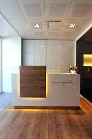 office backdrop. Light And Welcoming Reception Desk Modern Office Backdrop Design