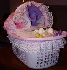 big baskets for homemade baby shower gift ideas