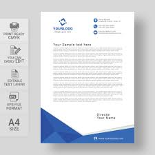 Business Letterhead Corporate Blue Letterhead Template Free Wisxi Business Letterheads
