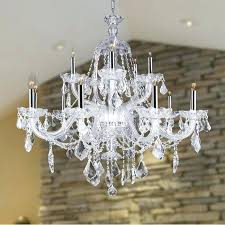 crystal clear chandelier cl light chrome finish and clear crystal chandelier two 2 tier clear crystal crystal clear chandelier