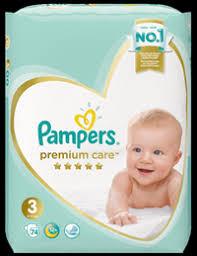 <b>Подгузники PAMPERS Premium</b> Care Midi 6-10кг – купить в сети ...