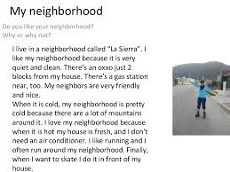 writing my neighborhood