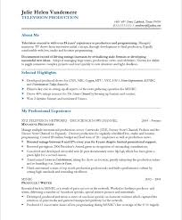 Tv Producer Resume Template