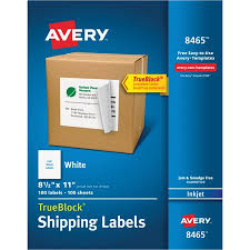 avery sheet labels avery full sheet labels with trueblock technology inkjet 8 1 2 x 11 white 100 box
