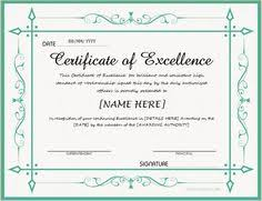 Certificate Of Excellence Template Word Certificate of Appreciation for MS Word DOWNLOAD at http 26