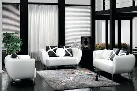 black white furniture. White Leather Living Room Furniture Dark With Black And
