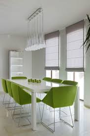 green dining room chairs. Alluring Seafoam Green Chair For Your Interior Decor: Modern Dining Room With Rectangular White Chairs