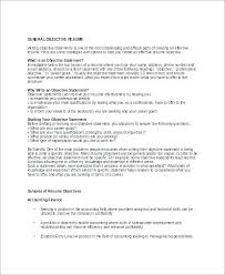 General Resume Objective Examples For Highschool Students Example