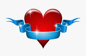 Blue Ribbon Design Heart Love Red Blue Ribbon Banner Affection Heart Designs