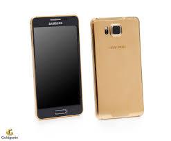 A gold-plated Samsung Galaxy Alpha