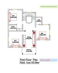 Kerala style floor plan and elevation     Kerala home design and    Kerala Style House Design First Floor