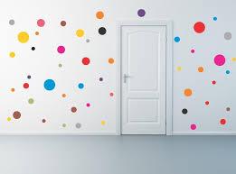 stunning polka dot wall decals that