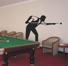 snooker wall stickers billiards room decoration decals