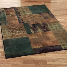 contempo block rectangle rug teal blue