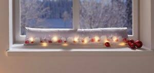 Zugluftstopper Led Lichterkette Türstopper Fensterdeko