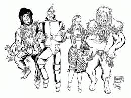 Small Picture Coloring Pages Wizard Of Oz aecostnet aecostnet