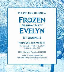 Frozen Birthday Invitation Template Lovely 23 Frozen