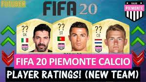 FIFA 20 | PIEMONTE CALCIO PLAYER RATINGS!! FT. RONALDO, DE LIGT, BUFFON  ETC... (FIFA 20 NEW TEAM)