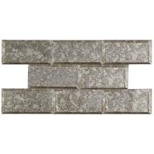 merola tile re beveled antique mirror 3 in x 6 in glass wall tile