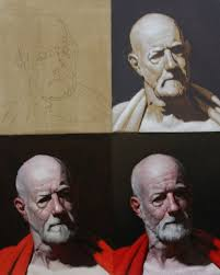oil portrait demonstration by brian macneil oil painting demonstration learn to paint art