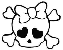 Small Picture Skull And Bones Coloring Pages For Kids And For Adults