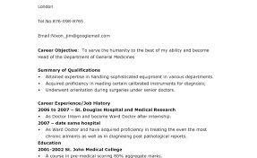 Psychology Internship Curriculum Vitae. Resume Template ... Medical ...