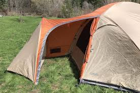 this best camping tent photos shows the vestibule portion of the cabela s west wind dome tent