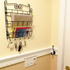 Evelots 3 Tier Mail Letter Organizer Wall Mounts Key Organizers