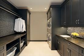 Design Ideas Black Modern Laundry Room Cabinets
