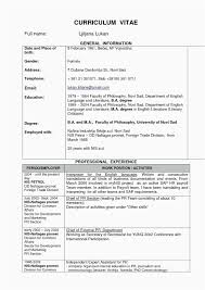 Extra Curricular Activities Examples For Resume Fresh Extra