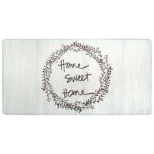 cook n comfort cream home sweet home 20 in x 39 in kitchen mat