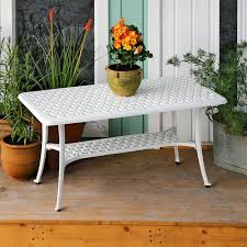 white metal claire garden side table 4