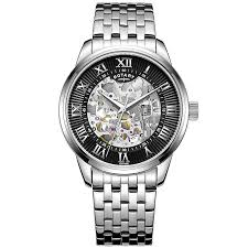 men s watches h samuel rotary men s black dial stainless steel bracelet watch product number 4606973