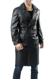 bgsd men s xander classic leather long trench coat 1