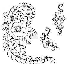 Ornamenty Tetování Květiny