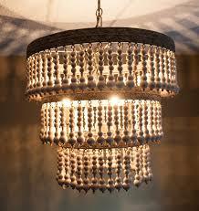 accessories wood bead chandelier for lighting interior decoration ideas poppingtonart com
