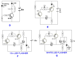 30 led projects Led Flasher Wiring Diagram figure f uses a single cell and a voltage multiplying arrangement to flash a red or green led figure g flashes a white led on a 3v supply grote led flasher wiring diagram