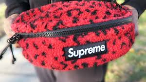 <b>Supreme</b> Red <b>Leopard</b> Fleece Waist Bag • Trying On & Packing ...