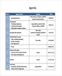 9 Workshop Agenda Examples Free Sample Example Format