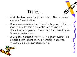 Title Mla Mla Citations