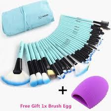 vander pro 32 pcs makeup brushes bag blue set foundation pinceaux maquillage cosmetics brush tools kits cleaning egg brushegg